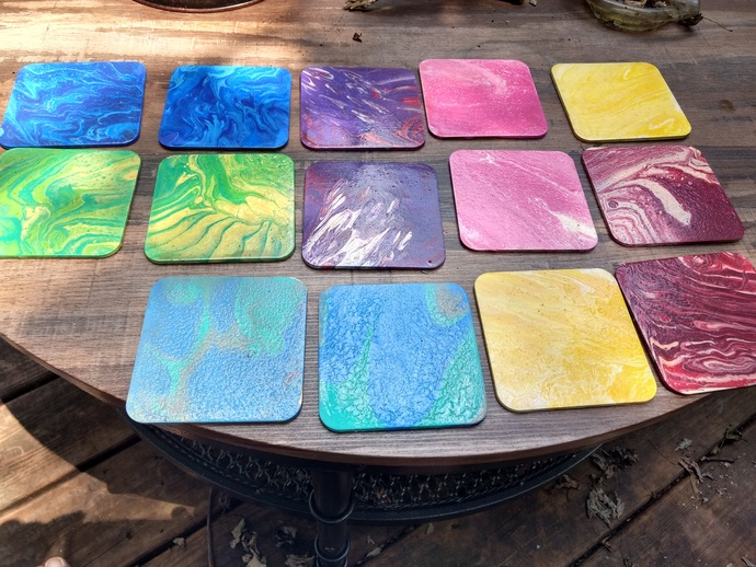 Pour Art Coasters - Design yours