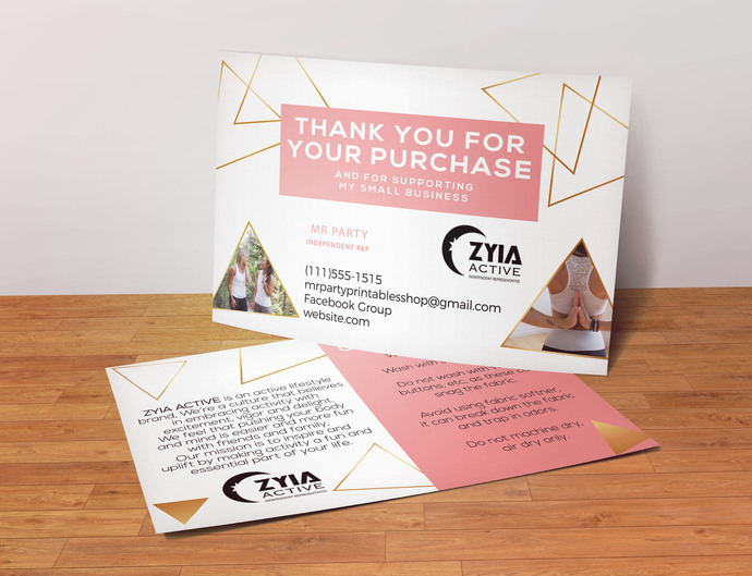 Thank you Postcard- Zyia Activewear Custom Postcard