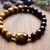 Tigers eye & wood bracelet