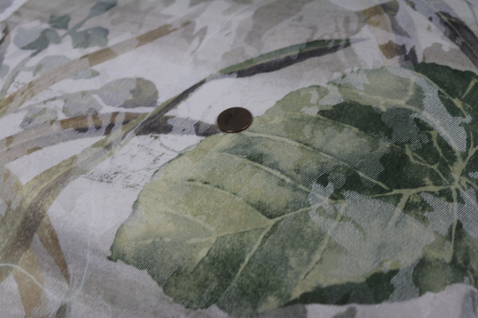 Vintage Fabric wonderful vine pattern in muted greens Perfect for porch or lanai