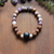 Shungite, Sage Amethyst, Rudraksha & Rutilated Quartz EMF protection bracelet