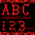 ABC and 123 Red Bones-Digital Kit-Jewelry Tag-Clipart-Gift Tag-Holiday-Digital