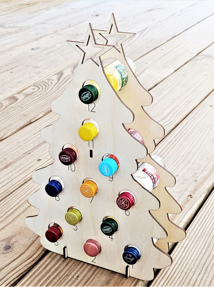 Mini Liquor Bottle Christmas Tree