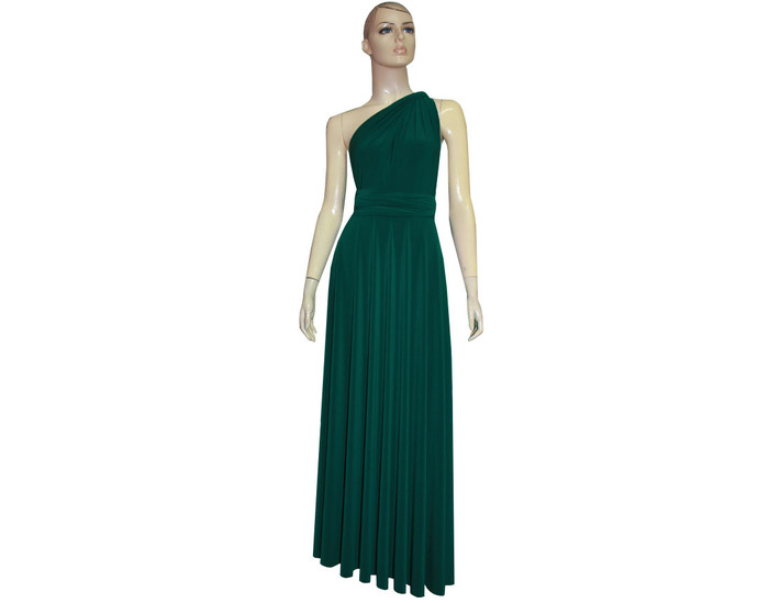 Emerald Green Infinity Dress Bridesmaid Gown Plus Size Formal Dress  Multiway Prom Gown Evening Maternity Dress Convertible Ball Gown XXS-5XL