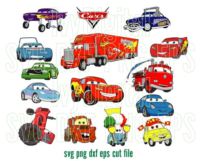 Disney cars SVG Lightning McQueen clipart decor shirt Cars Birthday invitation