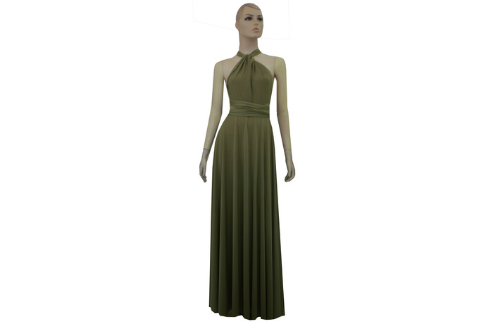 Infinity Dress Olive Green Bridesmaid Gown Plus Size Evening Dress Formal
