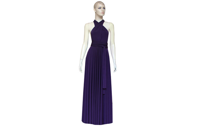 Deep Purple Infinity Dress Bridesmaid Gown Plus Size Prom Dress Multiway  Evening Gown Maternity Formal Dress Convertible Ball Gown XXS-5XL