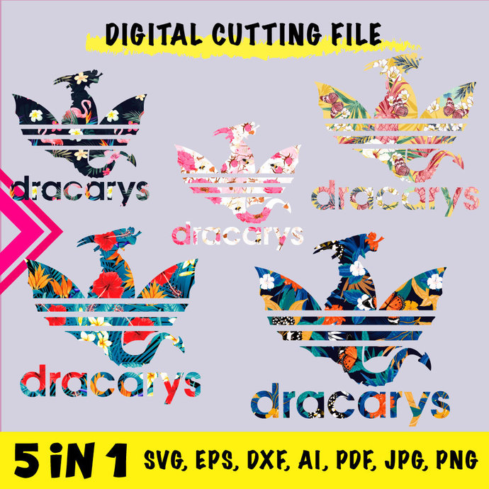 GAME OF THRONES Dracarys 5 in 1 INSTANT DOWNLOAD (SVG, eps, dxf, ai, pdf, jpg,