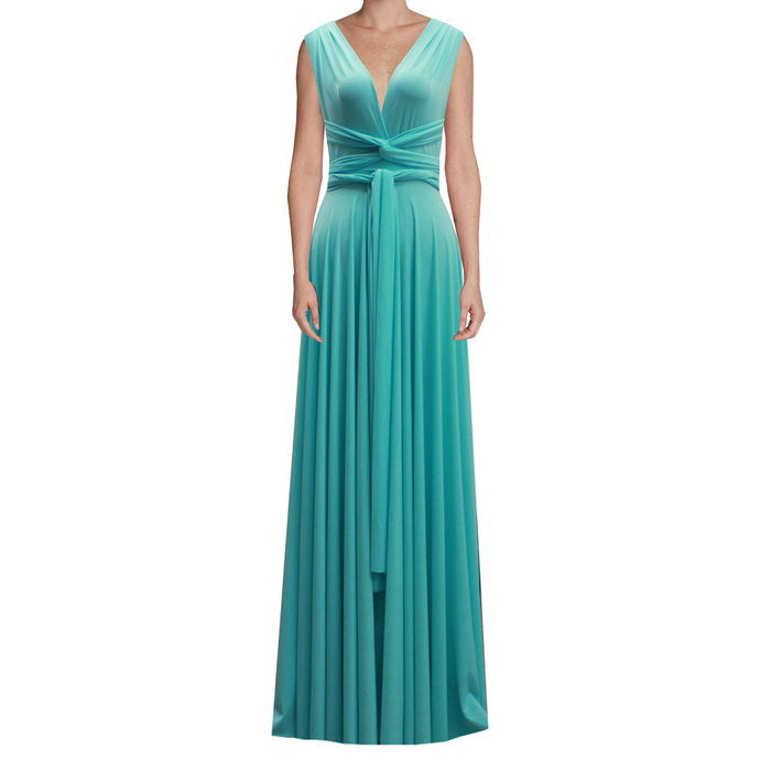 Infinity Dress Tiffany Blue Bridesmaid Gown Plus Size Prom Dress Multiway