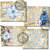 Blue Christmas with the Gnomes Printable Junk Journal Papers and Add ons