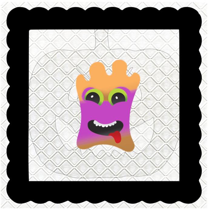 Monster with Mask 1B-Digital Kit-Jewelry Tag-Clipart-Gift Tag-Holiday-Digital