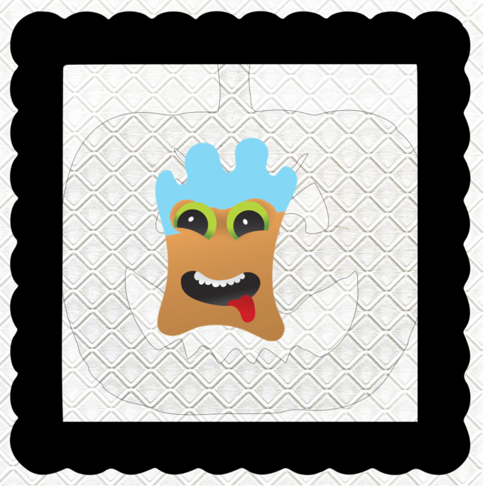 Monster with Mask 1G-Digital Kit-Jewelry Tag-Clipart-Gift Tag-Holiday-Digital