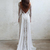 Sexy Backless Bohemian Country A Line Wedding Dresses 2020 Full Lace Sheer Long