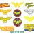 Superheroes Wonder Woman SVG Superhero clipart wonder woman logo decor Birthday