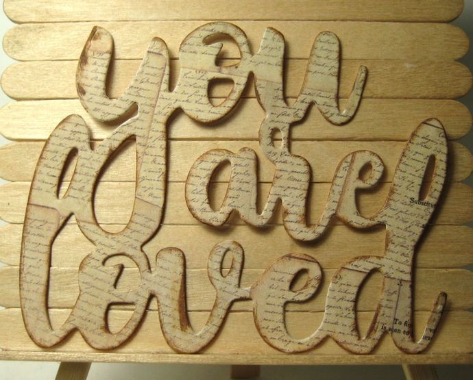"Large ""You are Loved"" Word Cutting Die"