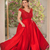 Lace Appliques A-Line Prom Dresses Red 2020 Modest Satin Beading Sequins Long