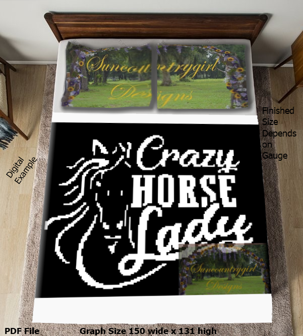 Crazy Horse Lady graph 150 x 131