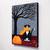 Autumn Tuxedo Cat Original Cat Folk Art Painting