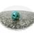 Tiny Arizona Blue Turquoise Crystal Skull 12mm 0g