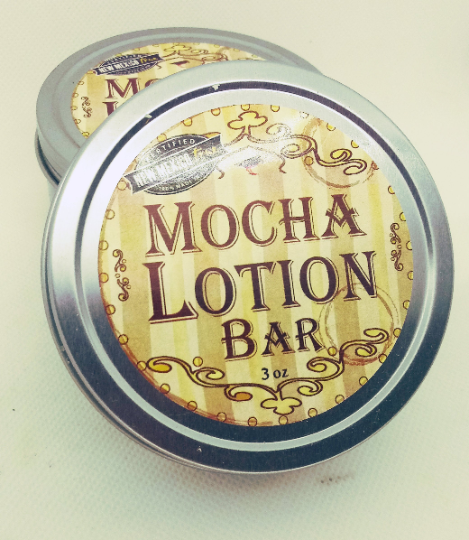 Lotion Bar | Mocha | Cellulite Coffee Lotion Bar | Organic Cocoa Butter |