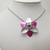 cute flower necklace, hippie jewelry, chainmaille pendant