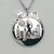 Nike WE RUN HKG Finisher's Faux Pearl Front Pendant Necklace Silver Color - New