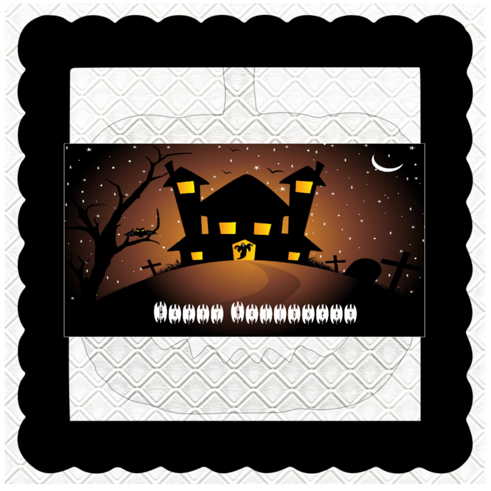 Halloween Banner HB27-Digital Kit-Jewelry Tag-Clipart-Gift Tag-Holiday-Digital
