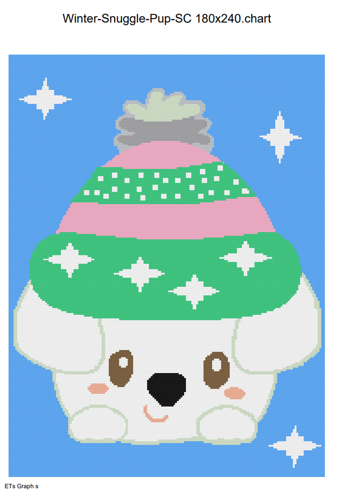 Winter Snuggle Pup SC 180x240 includes Graph with Written Color Chart