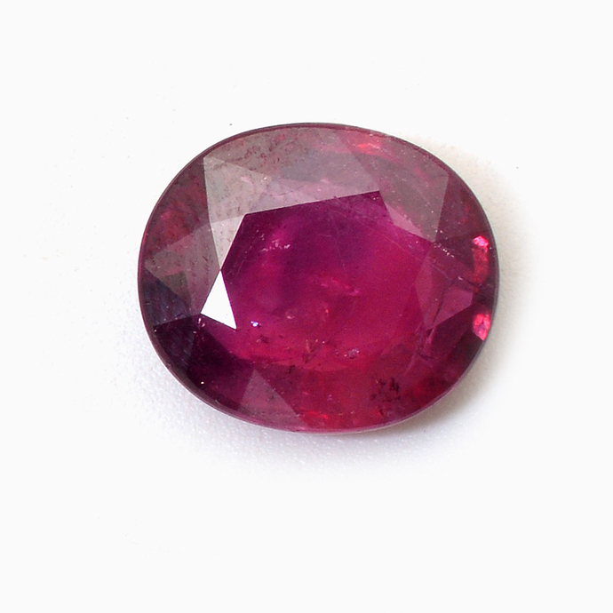 Indian Ruby Oval Faceted 12 x 14 mm Precious Loose Gemstone