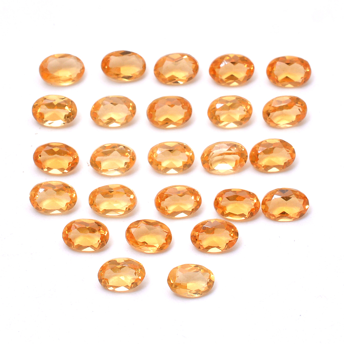 Natural Citrine Faceted Oval 6 x 4 MM Flawless Loose Semi Precious Gemstone