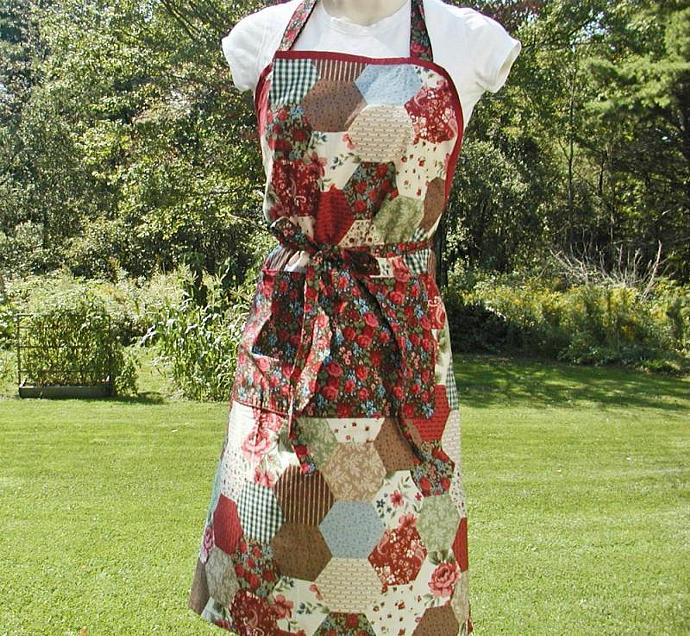 Girl's/Lady's Patchwork Full Apron--Country Design