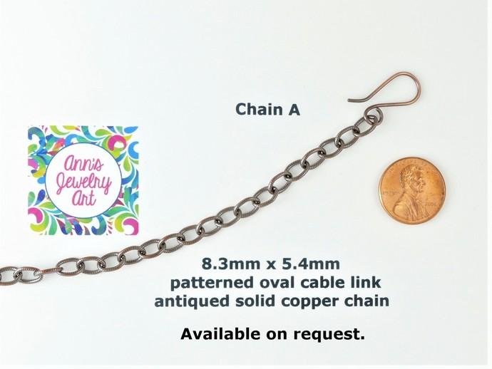 Honey Calcite Copper Pendant, Wire Wrapped Pendant include chain P139)