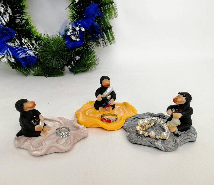 Niffler ring holder Cute Niffler ring dish Custom ring holder Kawaii gift for
