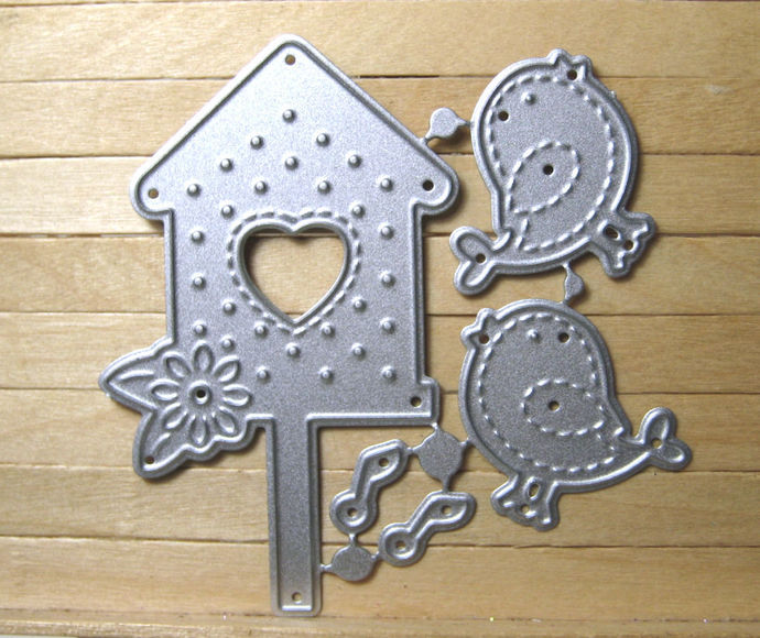 Birdhouse Birds Musical Notes Cutting Die Set