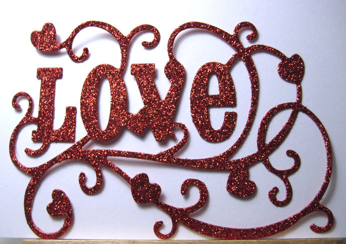 Fancy Love Word Cutting Die
