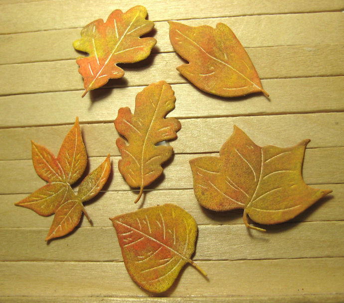6pc Smaller Leaves Metal Cutting Die Set