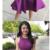 Purple Appliques Prom Dress, Satin Short Homecoming Dress,379