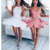 Sexy Backless Pink Cheap 2018 Homecoming Dresses,384
