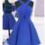 Sexy Open back Homecoming Dress,Royal Blue Prom Dress,Short,394