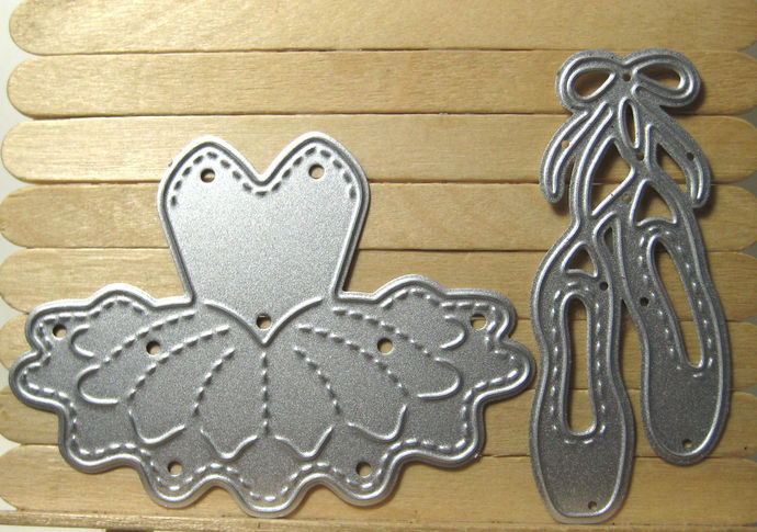 Tutu and Ballet Shoes Cutting Die Set