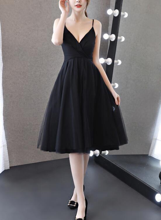 Party Dresses, Black Party Dress, Knee