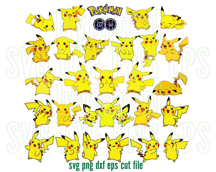 Pokemon Pikachu Svg Pikachu Clipart Pikachu By Lloyd Shop On Zibbet