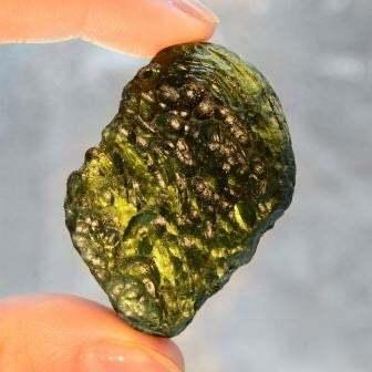 Very Rare Exotic Intense Green Investor Green Moldavite Stone 29g