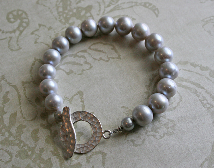 SILVER PEARL Hill Tribe Silver Bracelet