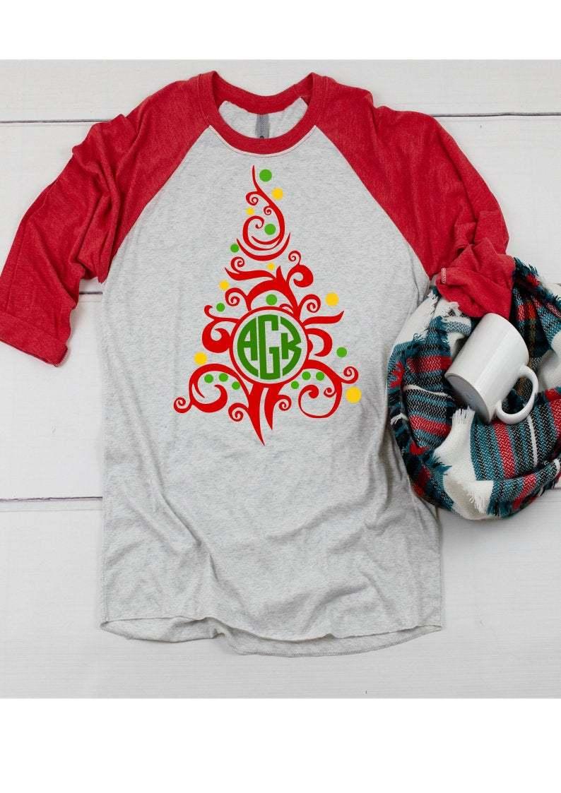 Swirl Christmas Tree Svg Christmas Svg By Enchantedsvg On Zibbet