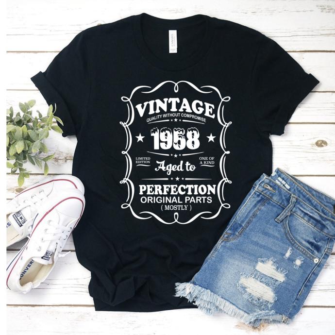 Vintage 1958 all original parts, retro vintage svg, born in ...,  years old svg,