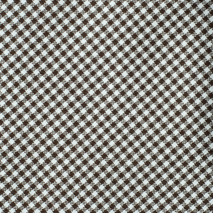 Luxury Woven Mini Check fabric - half meter - 100% cotton - Chocolate Brown