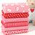 Baby Safe 6 Fat Quarter Fabric Bundle - pink lamb sheep hearts - 100% cotton -