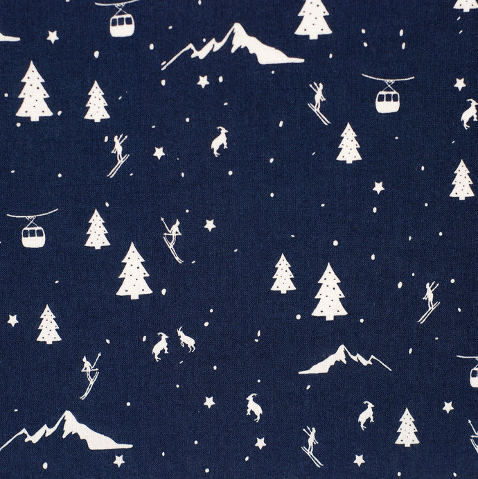 Christmas 6 fat quarter fabric bundle - 100% cotton - navy blue - quilting table