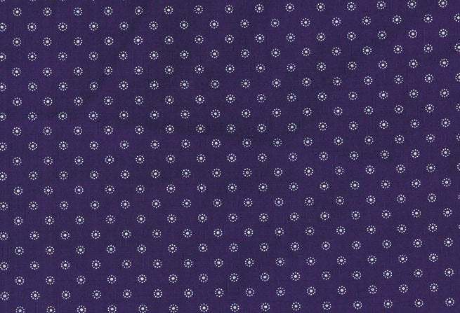 Mini daisy print fabric - half meter - 100% cotton - white on dark blue -